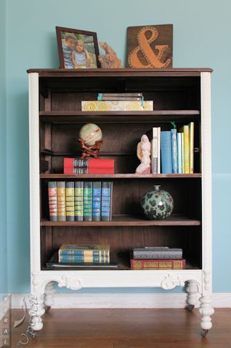 Upcycle Repurpose A Dresser Into Bookcase Viral Salvage Pinterest And