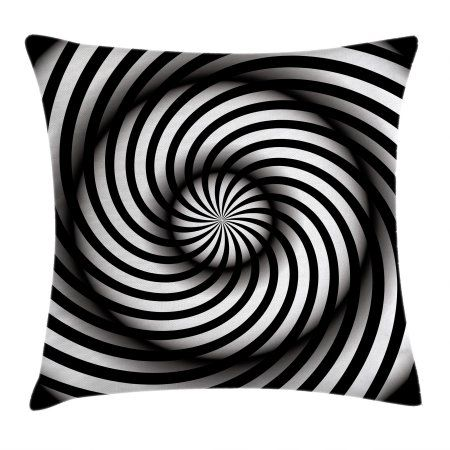 Spires Decor Throw Pillow Cushion Cover Minimalist Hypnotic Vortex Curve In A Twisted Geometric Progression Theme Throw Pillows Outdoor Throw Pillows Pillows