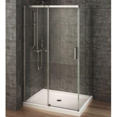 A E Bath And Shower Berlin 48 X 32 X 77 Sliding Rectangular Shower Enclosure Basementbathro Rectangular Shower Enclosures Corner Shower Stalls Shower Stall