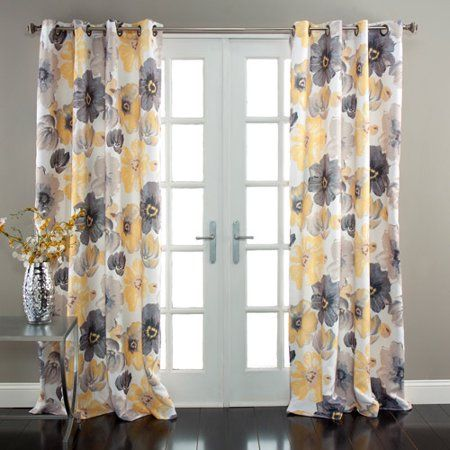 Lush Decor Leah Room Darkening Window Curtain Set Walmart Com