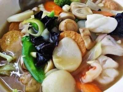 Resep Sapo Tahu Seafood Udang Jamur Oriental Sederhana Bumbu Balado Masakan Vegetarian Resep Masakan Resep Masakan Indonesia