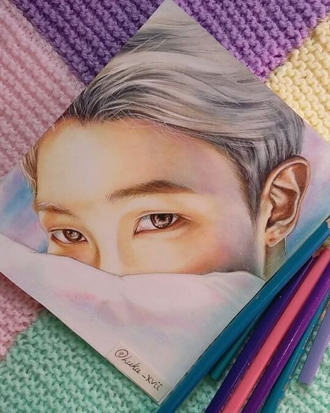 "BTS Fanart 🌌 on Instagram: ""🎂Happy birthday to our leader 💜Kim Namjoon💜🎉🎈You are the best leader in the world~😍💜💜 . #happybirthdaynamjoon #happynamjoonday…"""