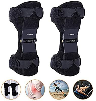 Amazon Com Aiwoit Power Knee Stabilizer Pads 2020 Updated 1 Pair Powerknee Brace Joint Support With 4 In 2020 Knee Support Braces Joint Support Volleyball Knee Pads