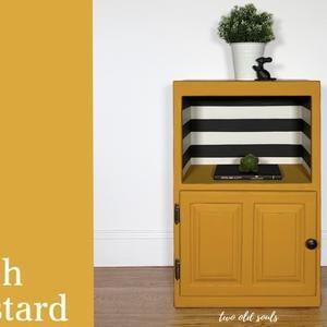 Country Chic Paint Bee S Knees Fresh Mustard Luminous Etsy In 2020 Country Chic Paint Painted Furniture Yellow Furniture
