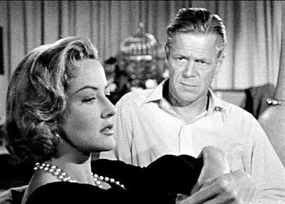 Dan Duryea and Martha Vickers in The Burglar 1957. | Duryea, Couple photos,  Photo