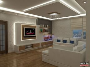 اشكال اسقف جبس بورد غرف وصالات وريسبشن متنوعة قصر الديكور Living Room Tv Unit Designs Home Room Design Gypsum Design