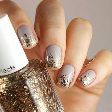 Check this post of simple & easy winter nails Art designs & ideas of You can draw snowflakes with glitter pens and with other colorful tints of nail polishes.