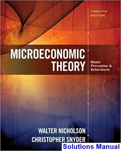 Solutions Manual For Microeconomic Theory Basic Principles