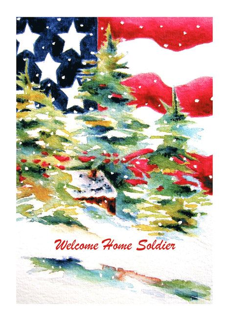Welcome Home Soldier Patriotic Christmas Card Ad Affiliate Soldier Home Patriotic Patriotic Christmas Cards Patriotic Christmas Air Force Christmas