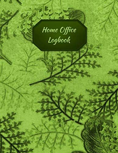 Home Office Logbook Green Leaves Cover Home Based Busi