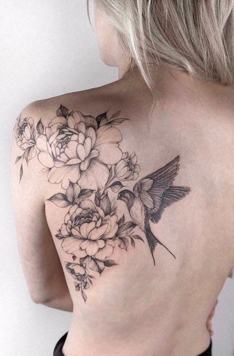 43 Beautiful Penoy Flower Tattoo Design Ideas For Fashion Woman - Page 15 of 43 . - 43 Beautiful Penoy Flower Tattoo Design Ideas For Fashion Woman – Page 15 of 43 – Fashionsum Bl -