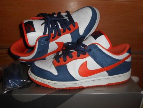 85bcb415877d Nike Dunk Low Pro SB 2003 BRONCOS REVERSE SUPA UN-SUPA 304292 184 sz ...