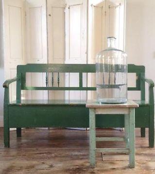 Brocant Bankje Met Klep.Oude Antieke Klepbank Vintage Curiosa En Brocante