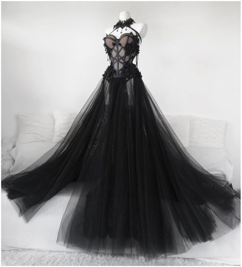 Ball Dresses, Ball Gowns, Prom Dresses, Corset Dresses, Black Corset Dress, Goth Dress, Pretty Dresses, Beautiful Dresses, Fairytale Dress