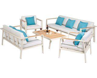 Lounge Set North Valley 3 Teilig Aus Aluminium Und Fsc Eukalyptus Holz Kaufen Bei Obi Lounge Gartenmobel Holz Kaufen Lounge