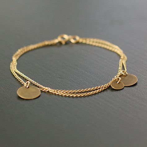 bellissima   gold and brass coin bracelet by by elephantine on Etsy