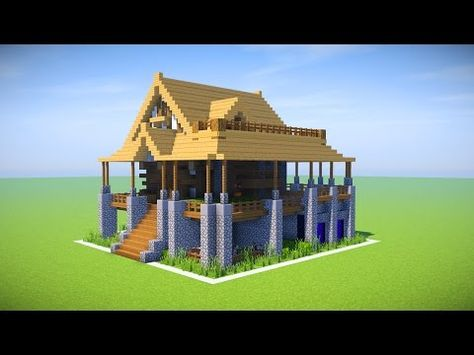 Minecraft Big Survival House Tutorial How To Make A Survival