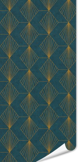 Papier Peint Intisse Gatsby Coloris Bleu Paon Papier Peint