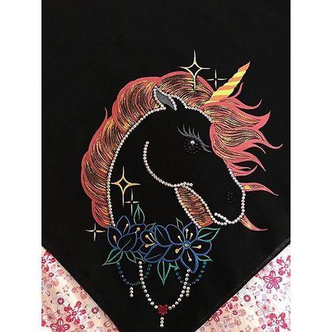 ماشاءالله حبيييت Unicorn My Embroidery On Scarves I Hope You Like It من ضمن الاشكال اللي راح تتوفر اليوم في محل بيت الجلابيه كريتر Cards Playing Cards
