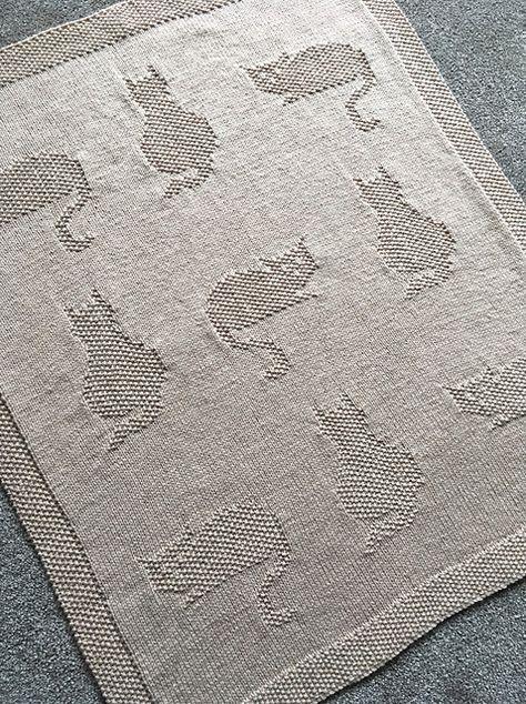 Ravelry: Kittens baby blanket pattern by Sandy Chapman