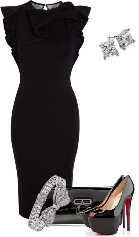 """""""My sister has to attend a black tie event"""" by pollydickson on Polyvore"""