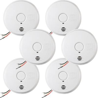 Kidde 10 Year Worry Free Hardwire Smoke Detector With Battery Backup 6 Pack 21010407 A The Home Depot In 2020 Battery Backup Smoke Detector Detector