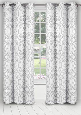 Kit Geometric Blackout Curtain Set Cool Curtains Elegant Living