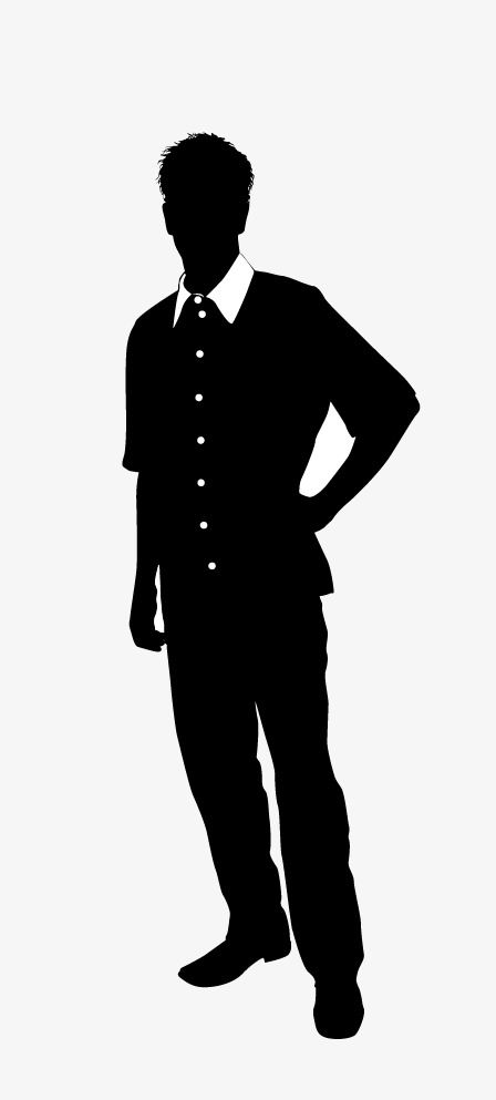 Handsome Men Silhouettes Handsome Men Silhouette Png Silhouette