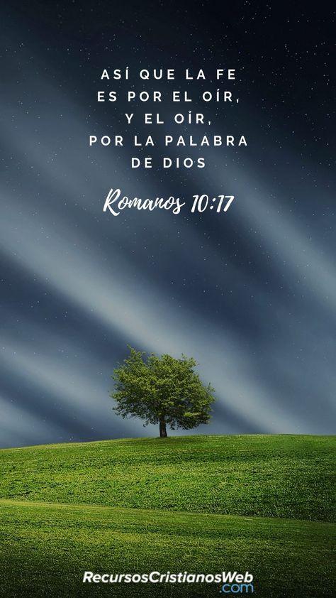 Así que la fe es por el oír, y el oír, por la palabra de Dios (Romanos 10:17). #VersiculosBiblicos #VersiculosdelaBiblia #TextosBiblicos #CitasBiblicas #ImagenesCristianas #FrasesCristianas #PalabradeDios