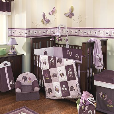 Lambs And Ivy Luv Bugs Bedding Coordinates Dark Brown Furniture With Purple Purple Baby Bedding Baby Girl Crib Bedding Baby Crib Bedding Sets