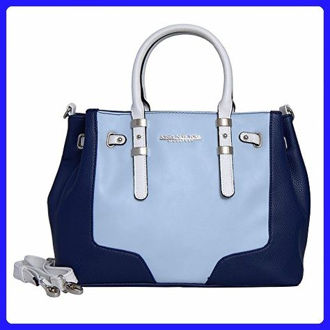 923a53c4de Jones New York Signature Diana Satchel Double Handle Bag (NAVY 3 TONE) -  Satchels ( Amazon Partner-Link)