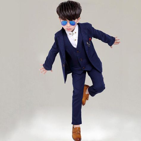 3 12 Year Children Formal Blazer Prom Wedding Baby Boys