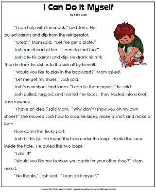 1st Grade Reading Comprehension Worksheets Pdf In 2020 Reading