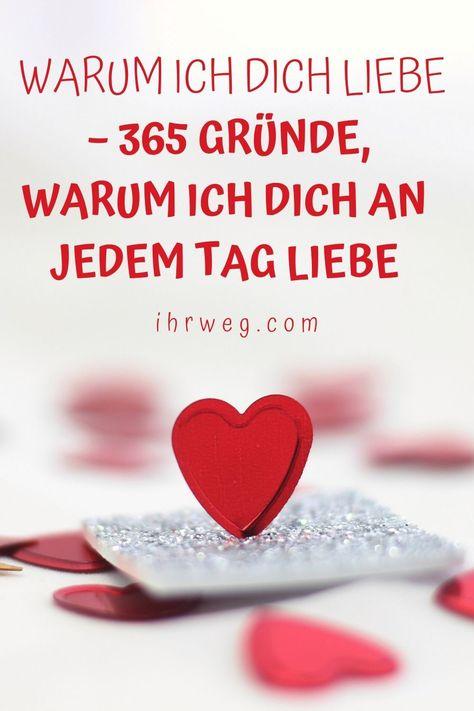 365 Gründe, warum ich dich liebe. Denn jeder Tag mit dir ist wie ein Traum, der in Erfüllung gegangen ist. #beziehung #beziehungtipps #liebestipps #liebe #leben #zusammen #flirten #chemie #seelenverwandter #dating #romantik #verliebtsein #verliebt #gefühle #glück #liebesglück #echteliebe #wahreliebe #freundschaft #schenktliebe #liebeist #liebevoll #ihrweg