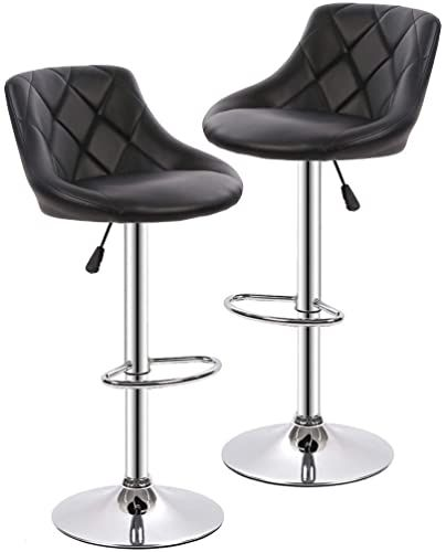 New Counter Height Bar Stools Set 2 Barstools Swivel Stool Height