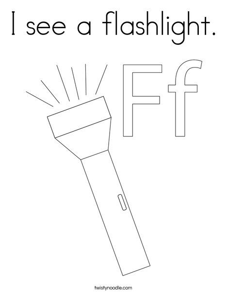 I See A Flashlight Coloring Page Twisty Noodle Coloring Pages Flashlight Camping Coloring Pages