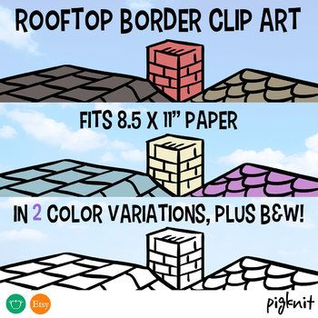 Rooftop Border Clipart House Border With Images Clip Art Clip Art Borders Border