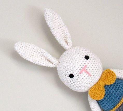 new baby gift handmade gift can be personalised Handmade Crochet Bunny Rabbit