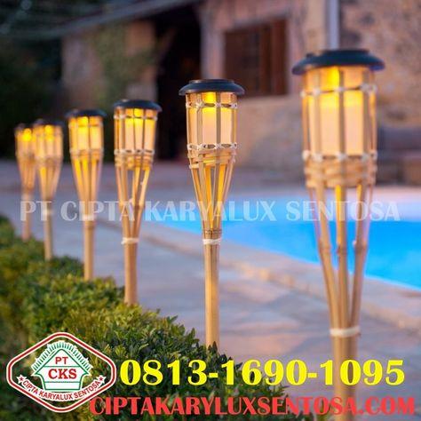 Lampu Taman Pt Cipta Karyalux Sentosa Di 2020 Lampu Lampu Tenaga Surya Bambu