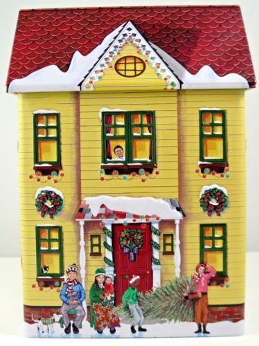 House Shaped Novelty Tin /'Chocolate Shop/'