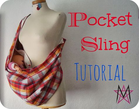 Back in September, I guest posted for Tasha over I Seam Stressed, while she was adjusting to her new life as mom of two. For that post, I& put up a tutorial on how to do your own pocket sling. Sewing Hacks, Sewing Tutorials, Crochet Tutorials, Sewing Patterns, Baby Sling Pattern, Baby Sling Tutorial, Puppy Carrier, Dog Sling Carrier, Diy Baby Shower Decorations