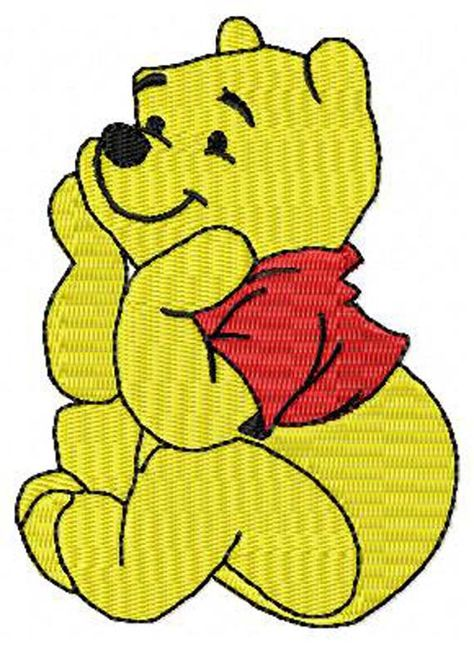 Winnie The Pooh Sitting Machine Embroidery Design Instant