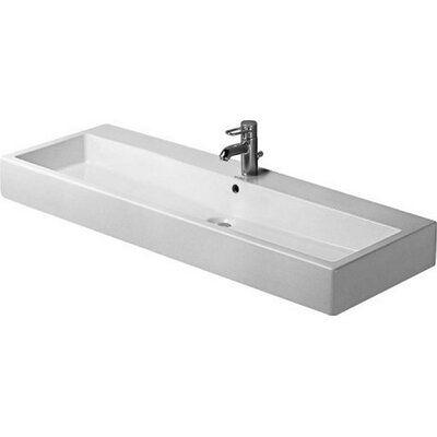 Duravit Vero Ceramic Rectangular Vessel Bathroom Sink With