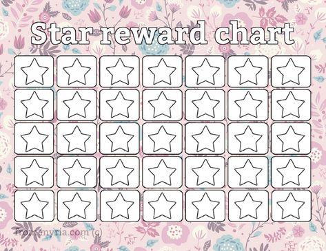 Printable Reward Chart Template Pictures Printable Reward Chart