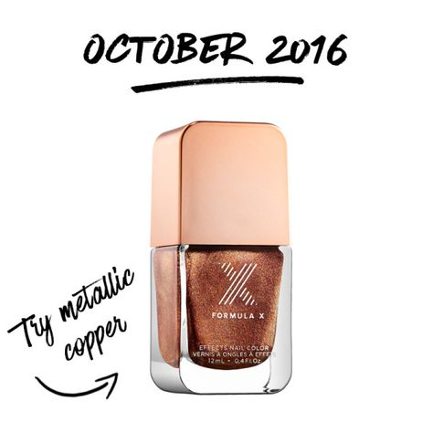 10 Nail Polish Color Of The Month October 2016 Formula X Metallic Copper