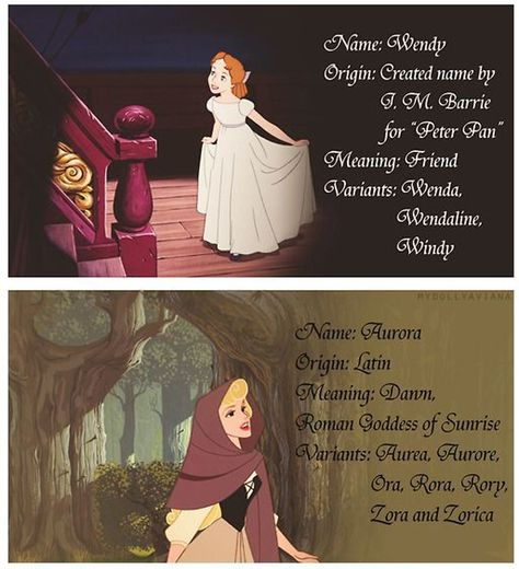The Meanings Behind The Names Of The Disney Ladies1