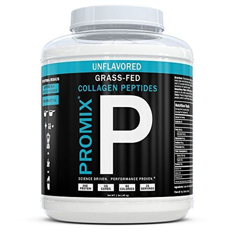 Collagen Peptides Powder 100 Grass Fed Hydrolysate Type I Iii Hydroly Promix Nourishment Co Collagen Peptides Joint Health Supplement Protein Supplements