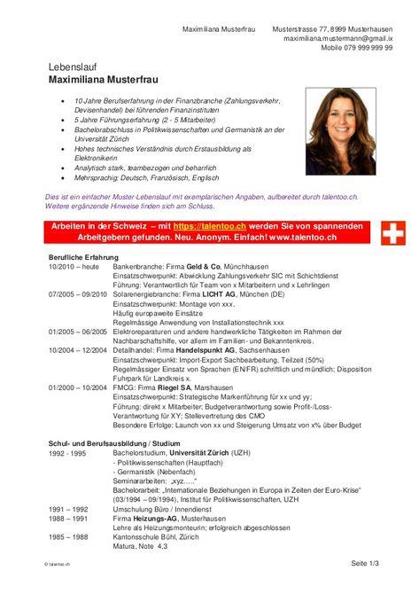 Cv Beispiel Schweiz Dokument Blogs Resume Examples Resume Relatable