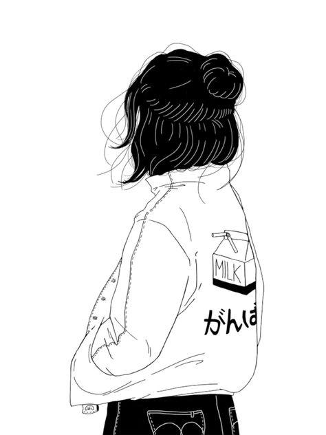 As ilustrações simplificadas e sensíveis, em preto e branco, de Anna Macht - FTCMAG