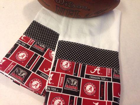 Lovely Alabama Tea Towels (flour Sack, Hand, Kitchen, Bathroom Towel), Set Of 2,  Crimson Tide, Red, Black, University Of Alabama, Roll Tide By CozyByChrisu2026